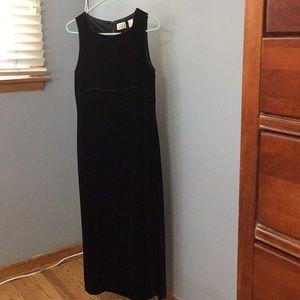 LOFT Dresses - Full length velvet black dress